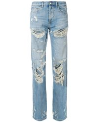 Faith Connexion | Distressed Straight Jeans | Lyst