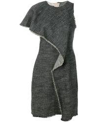 Pringle of Scotland | Asymmetric Dress In Black | Lyst