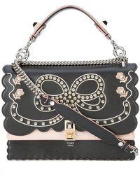 Fendi - Kan I Embellished Shoulder Bag - Lyst