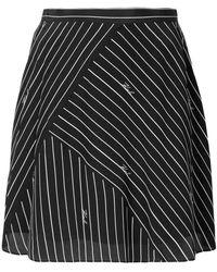 Karl Lagerfeld - Pinstriped Logo Skirt - Lyst