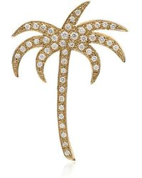 Ileana Makri - Diamond Palm Pendant Necklace - Lyst