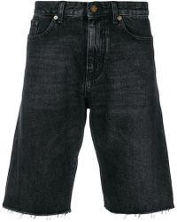 Saint Laurent - Stonewashed Denim Shorts - Lyst
