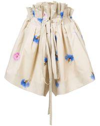 Natasha Zinko - Printed Paper Bag Shorts - Lyst