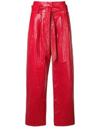 8pm - Vinyl Flared Trousers - Lyst