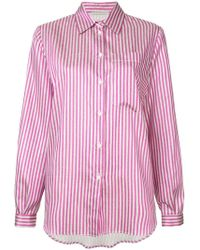 Marco De Vincenzo - Striped Button Shirt - Lyst
