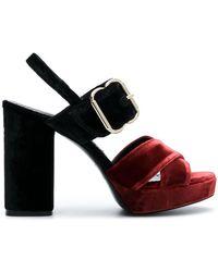 Twin Set - Contrast Block Heel Sandals - Lyst