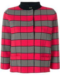 Emporio Armani - Cropped Checkerboard Jacket - Lyst