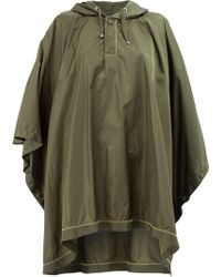 Moncler - Hooded Poncho Coat - Lyst