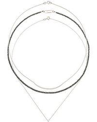 Uzerai Edits Black Diamond Necklace Set