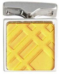 Burberry - Check-engraved Cufflinks - Lyst