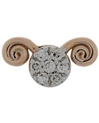 Kismet by Milka - 14kt Rose Gold Aries-the Ram Diamond Stud - Lyst