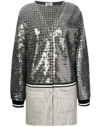 Aviu - Long Sequin Panel Cardigan - Lyst