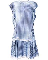 Ermanno Scervino - Striped Midi Dress - Lyst