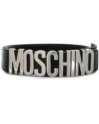 Moschino - Logo Lettering Belt - Lyst