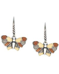 Bottega Veneta - Enamelled Butterfly Earrings - Lyst