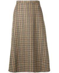 Rochas - Tartan A-line Skirt - Lyst