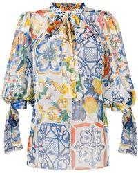 Dolce & Gabbana - Majolica Print Blouse - Lyst