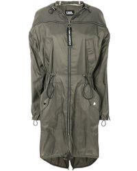 Karl Lagerfeld | Flyaway Parka Coat | Lyst