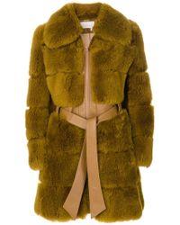 Chloé - Shearling Fur Coat - Lyst