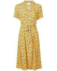 Harley Viera-Newton - Printed V-neck Dress - Lyst