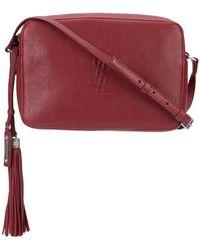 Saint Laurent - Dark Red Lou' Camera Bag - Lyst