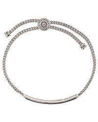John Hardy - Classic Chain Pull-through Sapphire And Spinel Bracelet - Lyst