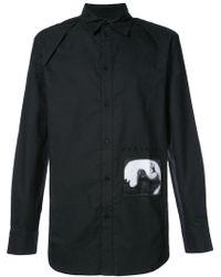 D.GNAK - Fantasma Patch Detail Shirt - Lyst