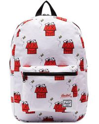 Herschel Supply Co. - White Snoopy Skate Backpack - Lyst