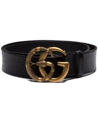 92aac7a101d Gucci White Small GG Marmont Belt in White for Men - Lyst
