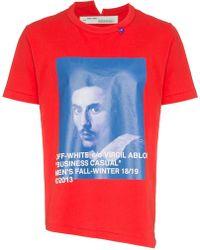 Off-White c/o Virgil Abloh - T-Shirt mit 'Bernini' Print - Lyst