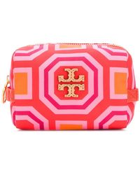 Tory Burch - Printed Small Cosmetic Case - Lyst