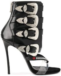 DSquared² | Western Buckle Boot Sandals | Lyst