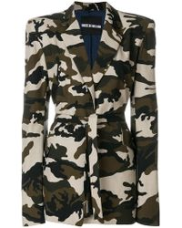House of Holland - Camouflage Tailored Coat - Lyst