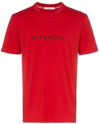 Givenchy - Camiseta con logo y efecto desgastado - Lyst