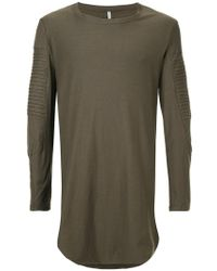 First Aid To The Injured - Long Line Shirt With Ribbed Panel Details - Lyst