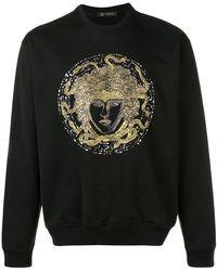 Versace - Crystal Embroidered Medusa Jumper - Lyst