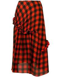 Preen By Thornton Bregazzi - Adrienne Gingham Print Skirt - Lyst