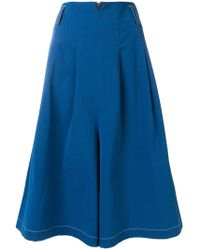 Mrz - Cropped Flared Trousers - Lyst