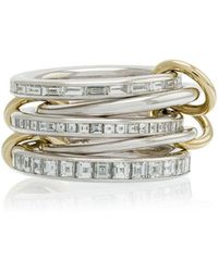Spinelli Kilcollin - 18k White Yellow Gold Augusta Diamond Ring - Lyst
