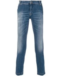 Entre Amis - Cropped Slim Fit Jeans - Lyst