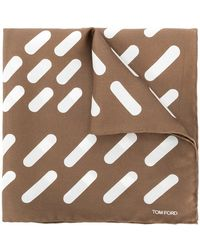 Tom Ford   Striped Square Scarf   Lyst