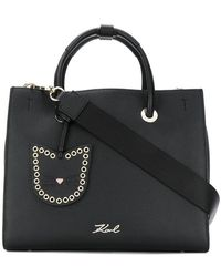 Karl Lagerfeld - Bolso Karry All Mini Shopper - Lyst