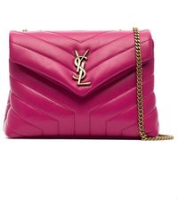 Saint Laurent - Pink Loulou Quilted Leather Shoulder Bag - Lyst