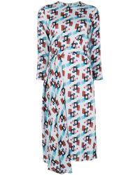 L'Autre Chose - Asymmetric Midi Dress - Lyst