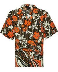 Prada - Camicia a fiori - Lyst