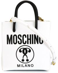 16a06f64050b Moschino - Double Question Mark Print Tote - Lyst · Moschino. Double  Question Mark Print Tote.  650. Farfetch · Loewe - Gate Leather Crossbody  Bag ...