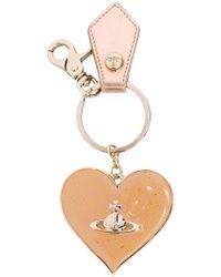 Vivienne Westwood - Glitter Heart Mirror Keyring - Lyst