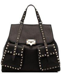 Valentino - Rockstud Leather Backpack - Lyst