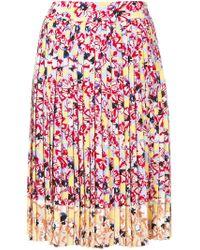 Jil Sander Navy | Floral Midi Skirt | Lyst