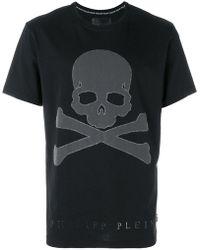 Philipp Plein - Skull And Crossbones T-shirt - Lyst